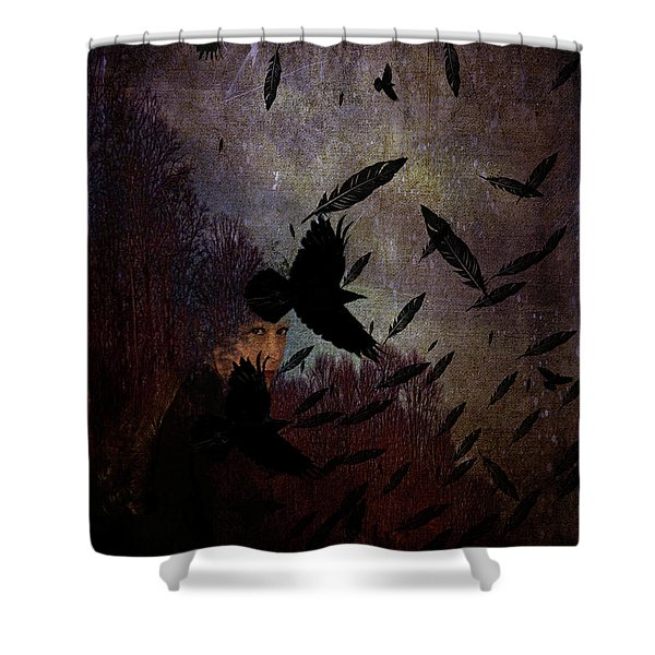 Conflict Of The Crows Shower Curtain