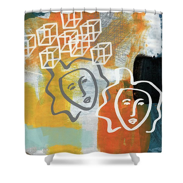 Conflicting Emotions Shower Curtain