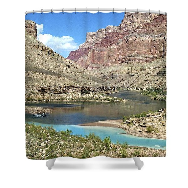 Confluence Of Colorado And Little Colorado Rivers Grand Canyon National Park Shower Curtain