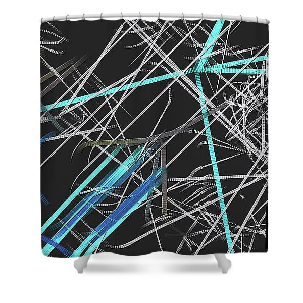 Shower Curtain featuring the digital art Confused by Visual Artist Frank Bonilla