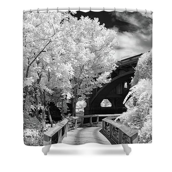 Congaree River Boardwalk Shower Curtain