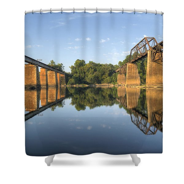Congaree River Rr Trestles - 1 Shower Curtain