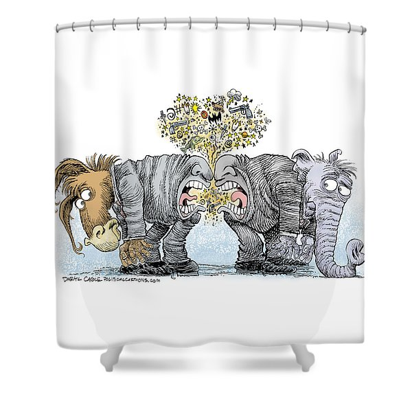 Congress Talking Out Of Their Butts Shower Curtain