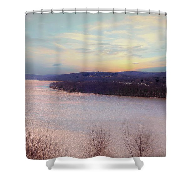 Connecticut River View From Gillette Castle. Shower Curtain
