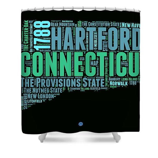 Connecticut Word Cloud Map 1 Shower Curtain