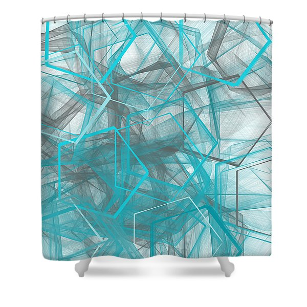 Connecting Angles Shower Curtain