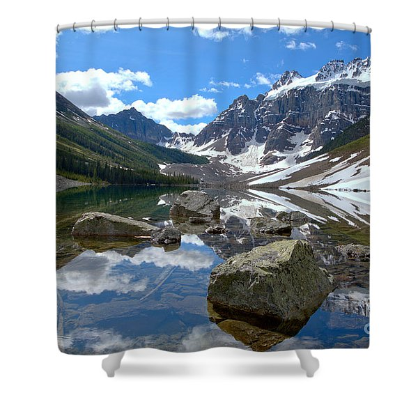Consolation Lakes Reflections Shower Curtain