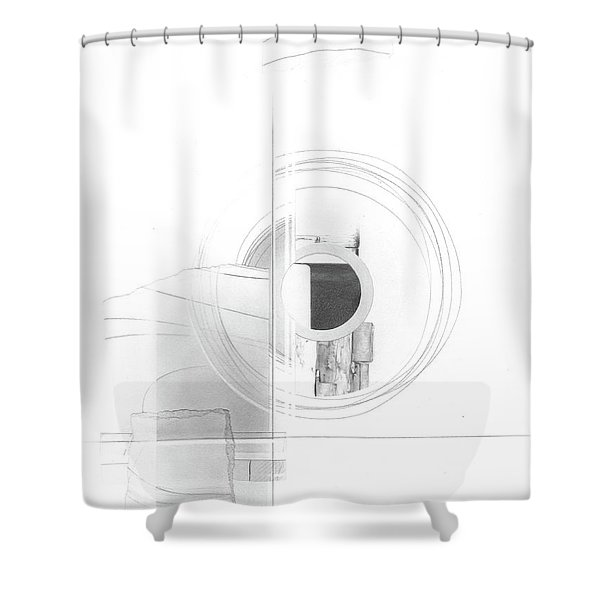 Construction No. 3 Shower Curtain