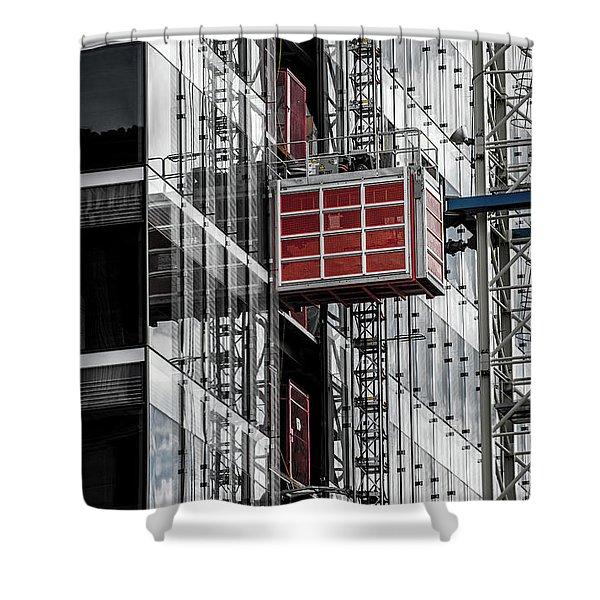 Construction Season Begins - Skyscraper - Utah Shower Curtain