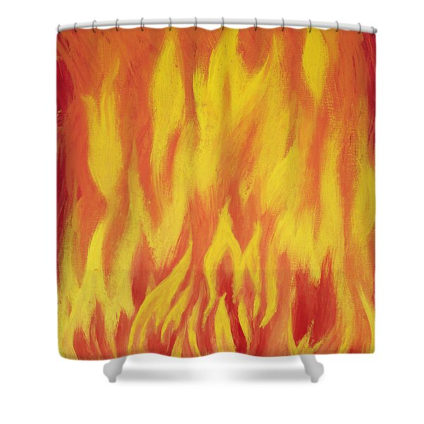 Shower Curtain featuring the painting Consuming Fire by Antonio Romero