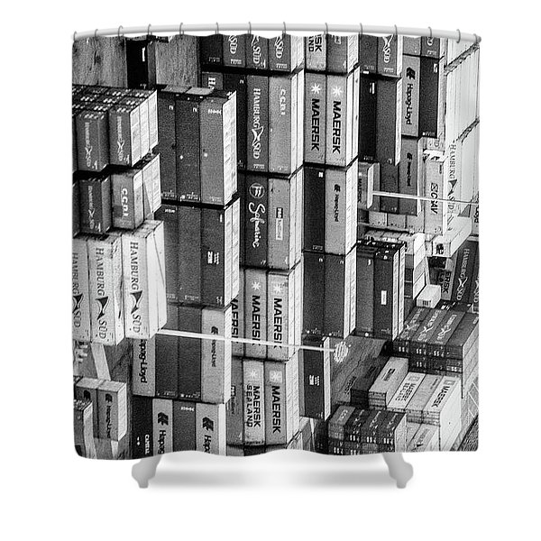 Container Library Shower Curtain