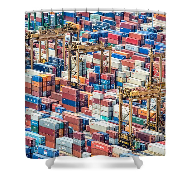 Containers Shower Curtain
