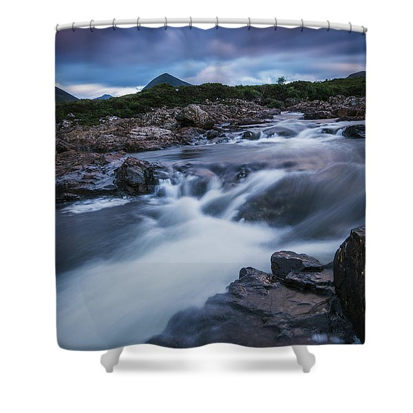 Contemplating The Cuillin Shower Curtain