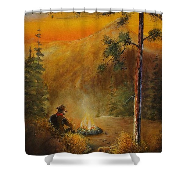Contemplating The Journey Shower Curtain