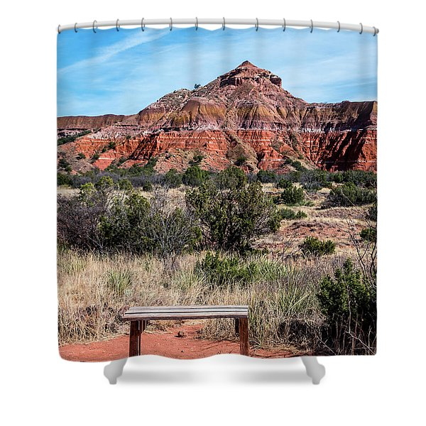 Contemplation Bench Shower Curtain