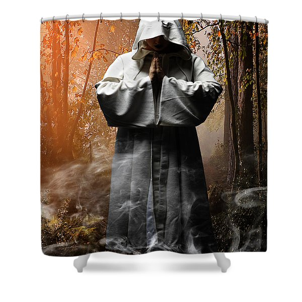 Contemplation Shower Curtain