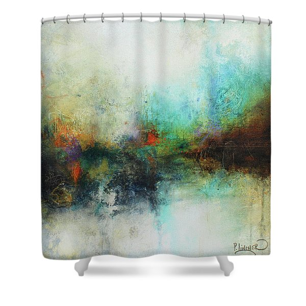 Contemporary Abstract Art Painting Shower Curtain