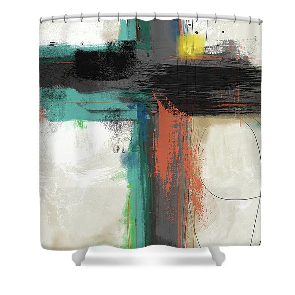 Contemporary Cross 2- Art By Linda Woods Shower Curtain