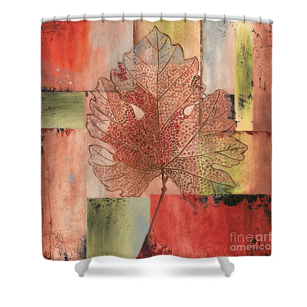 Contemporary Grape Leaf Shower Curtain