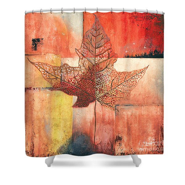 Contemporary Leaf 2 Shower Curtain