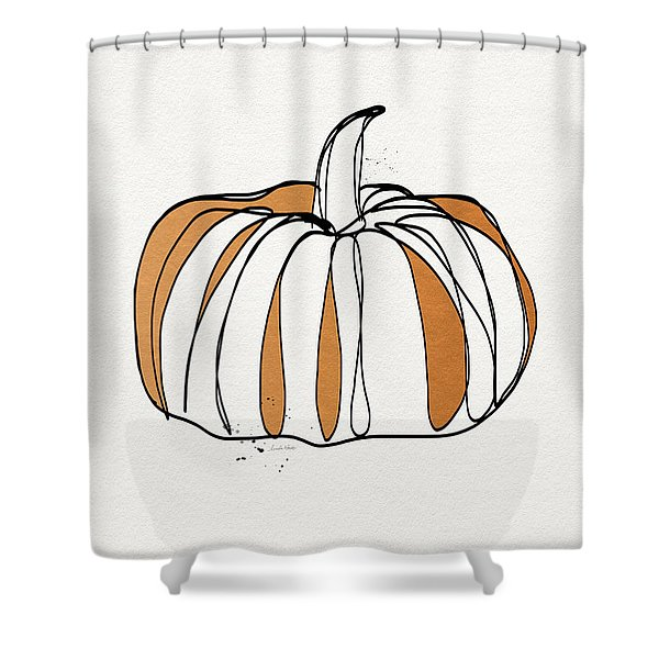 Contemporary Pumpkin- Art By Linda Woods Shower Curtain