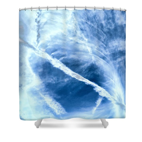 Contrail Concentricities Shower Curtain
