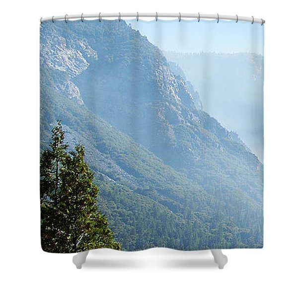 1 Of 4 Controlled Burn Of Yosemite Section Shower Curtain