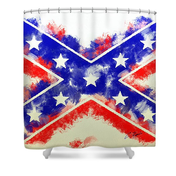 Controversial Flag Shower Curtain