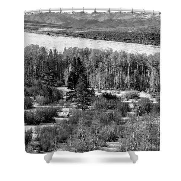 Conway Summit In Winter Shower Curtain