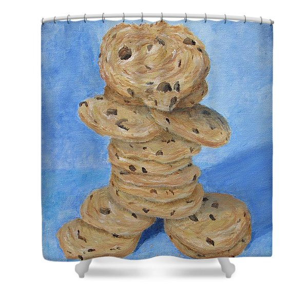 Shower Curtain featuring the painting Cookie Monster by Nancy Nale