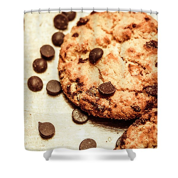 Cookies With Chocolare Chips Shower Curtain