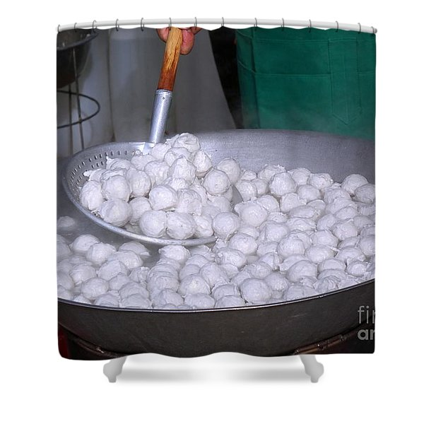 Cooking Chinese Fish Balls Shower Curtain