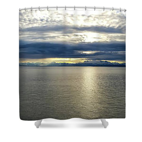 Cookinlet To Mountains Shower Curtain