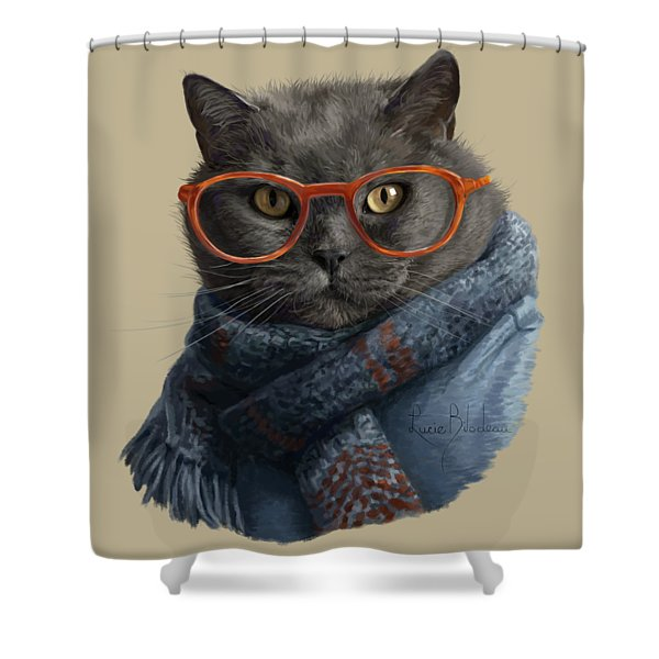 Cool Cat Shower Curtain