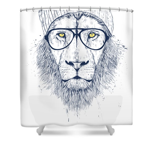 Cool Lion Shower Curtain