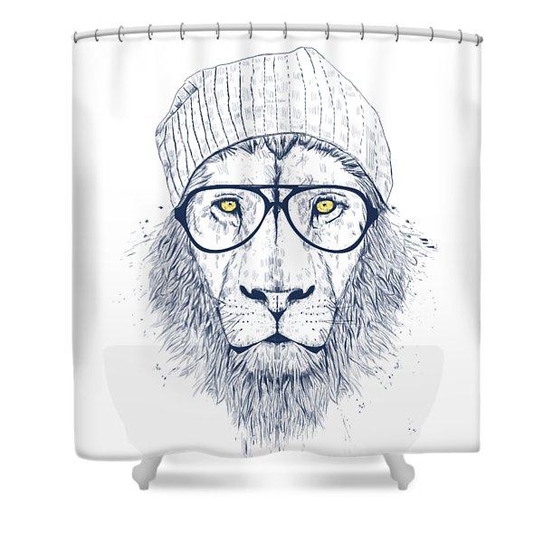 Cool Lion Shower Curtain