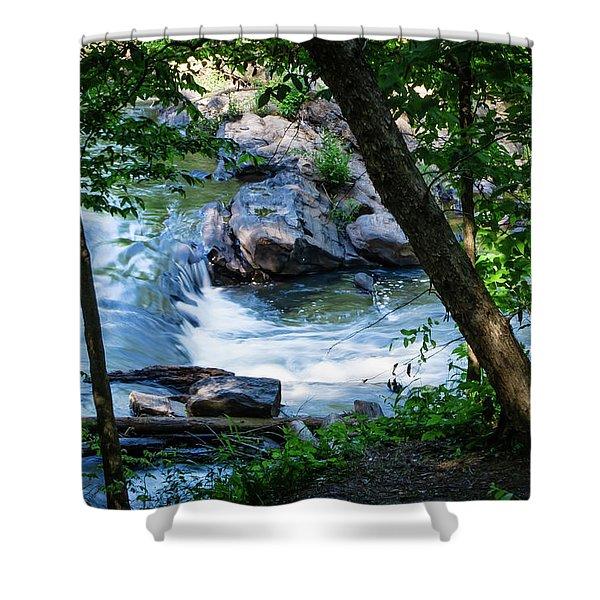 Cool Mountain Stream Shower Curtain