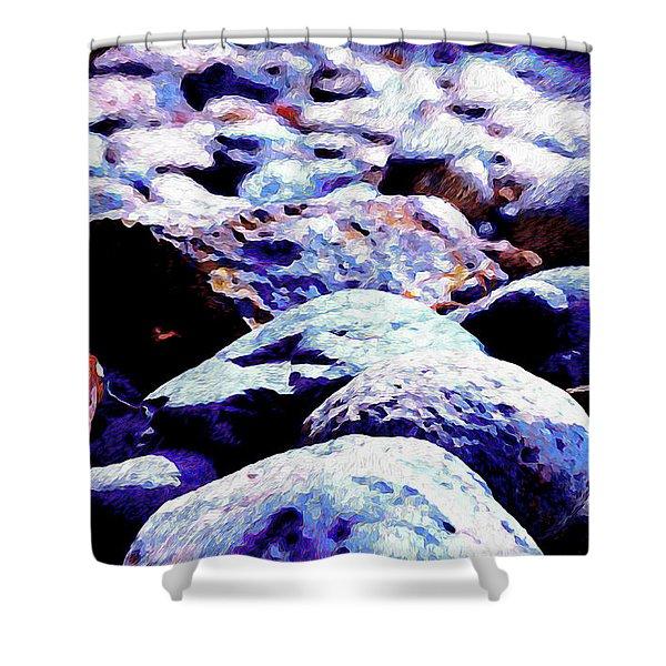 Cool Rocks- Shower Curtain