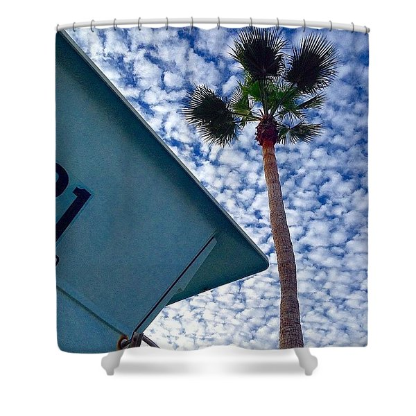 Cool Sky.  Shower Curtain