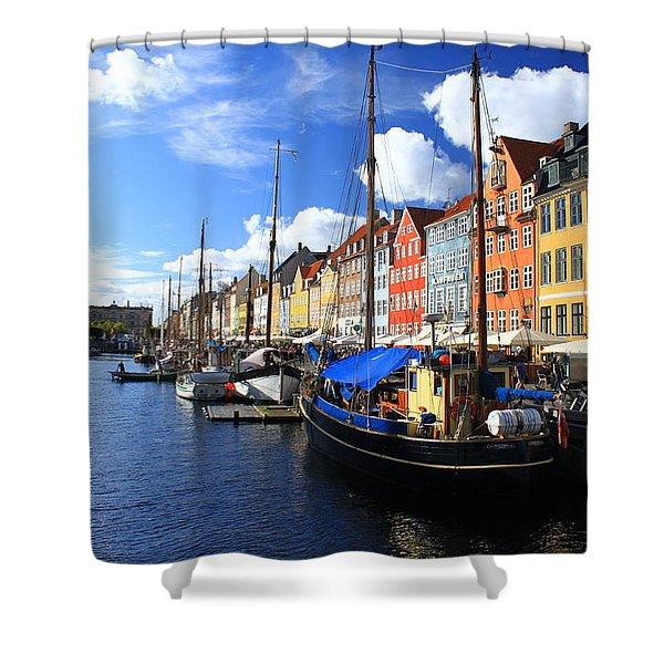 Copenhagen Ships Shower Curtain