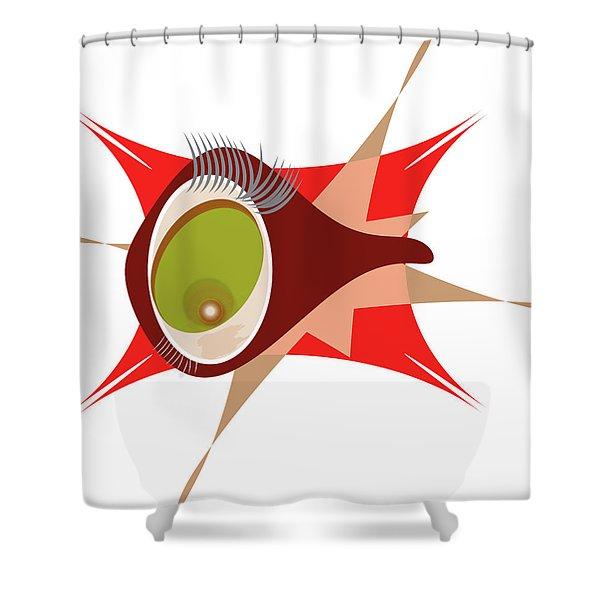 Copepod Shower Curtain