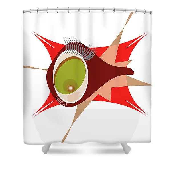Copepod Shower Curtain