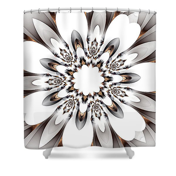 Copper Highlights Shower Curtain