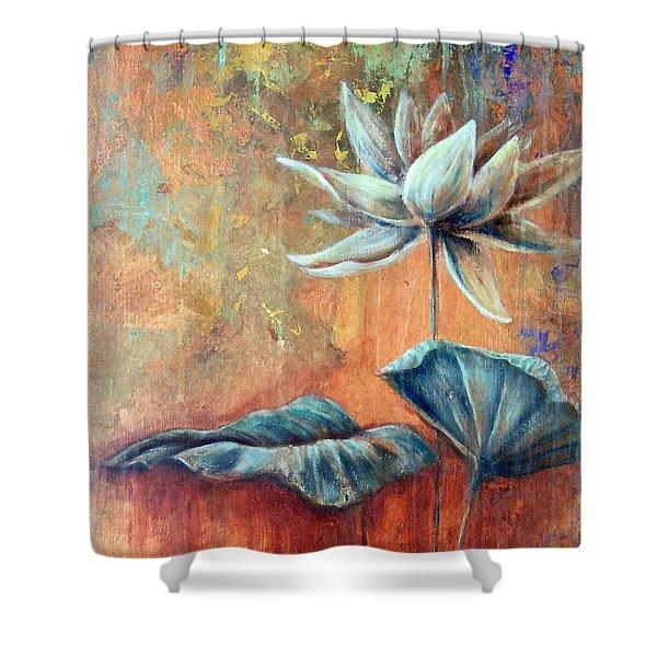 Copper Lotus Shower Curtain