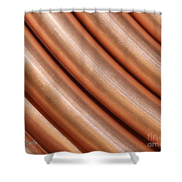 Copper Pipes Shower Curtain