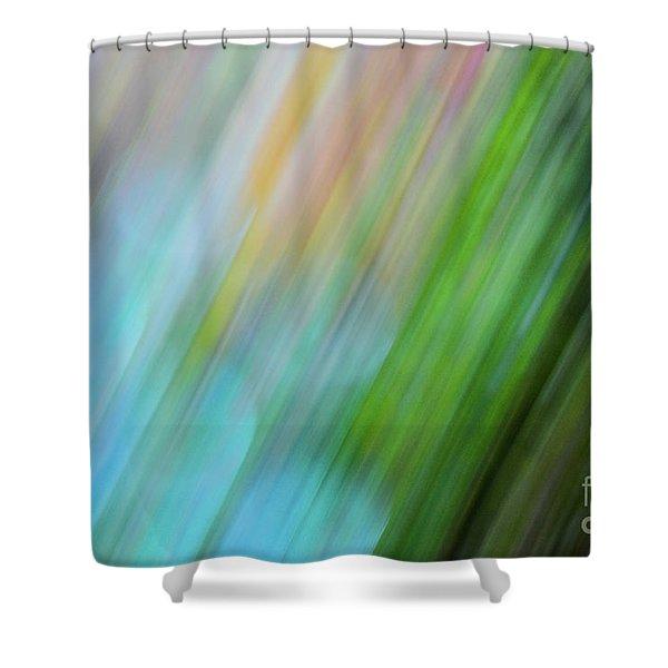 Copper Rainbow Shower Curtain