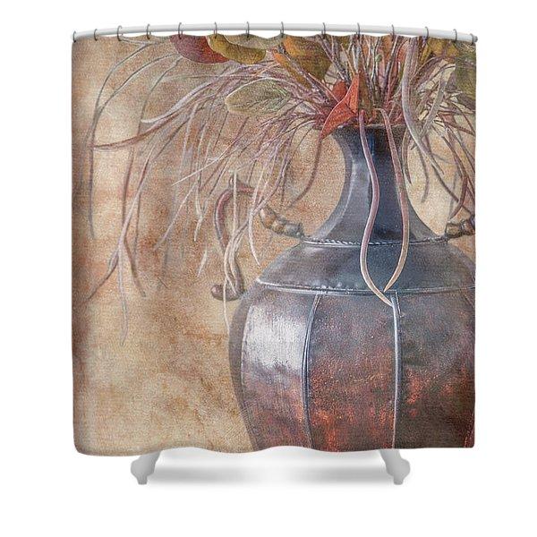 Copper Vase Shower Curtain