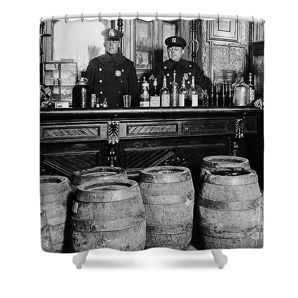 Cops At The Bar Shower Curtain