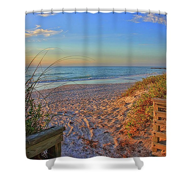 Coquina Beach By H H Photography Of Florida  Shower Curtain