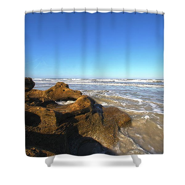 Coquina Beach Shower Curtain